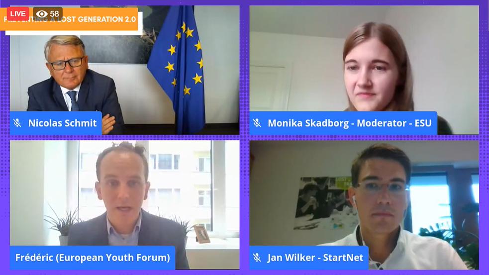 Conferenza Online Giovani 2.0 Generazione Perduta Commissione Europea